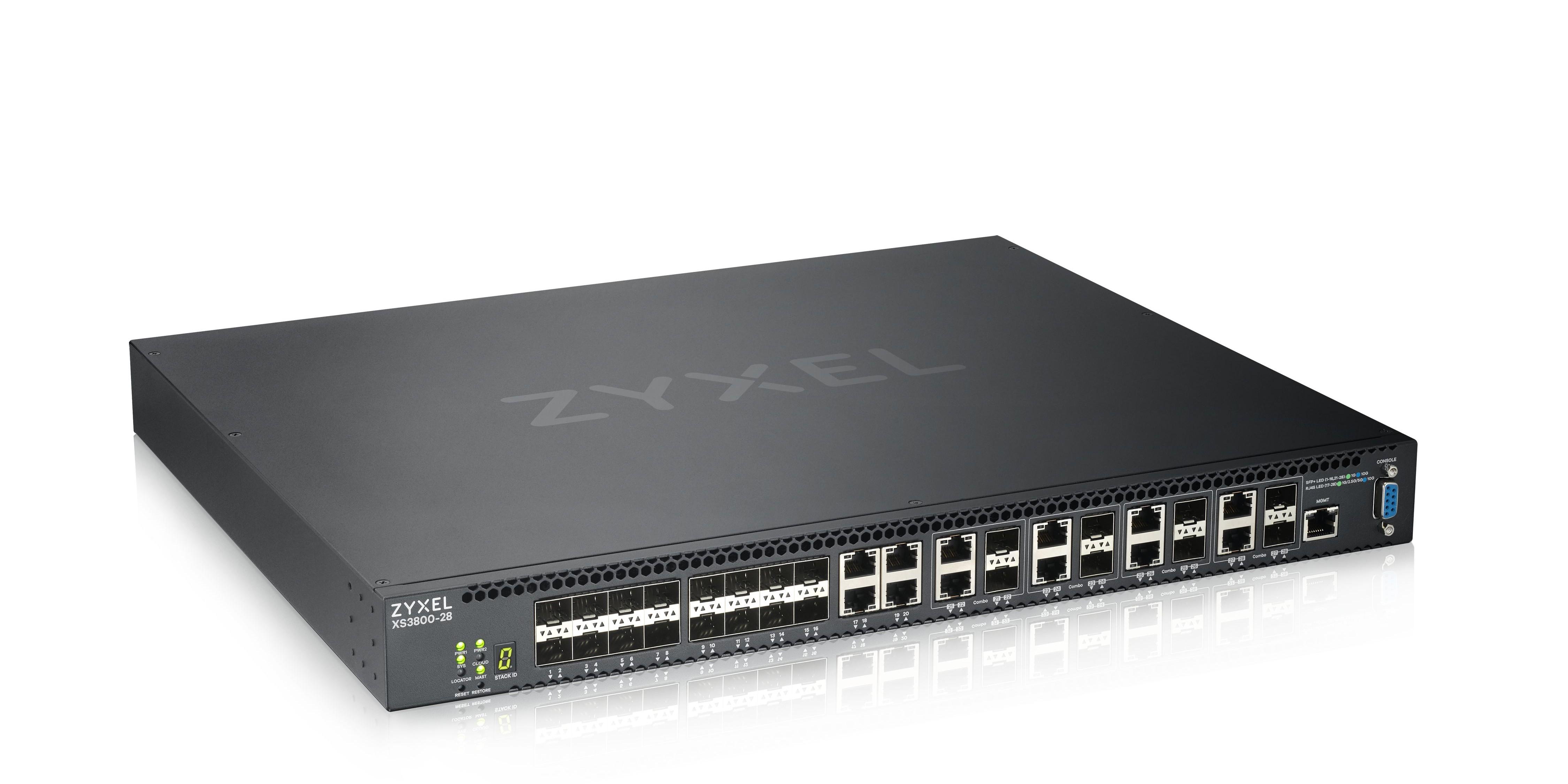 Zyxel révolutionne les réseaux des PME et des campus avec le switch XS3800-28