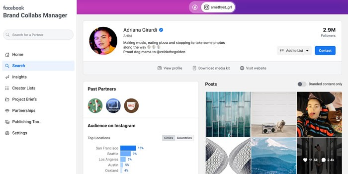 Photo of Facebook ouvre sa plateforme d'influence Brand Collabs Manager à Instagram