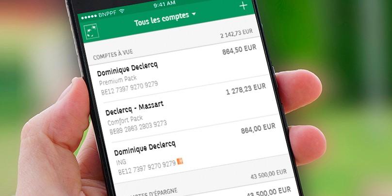 BNP Paribas Fortis propose l'agrégation des comptes bancaires en temps réel