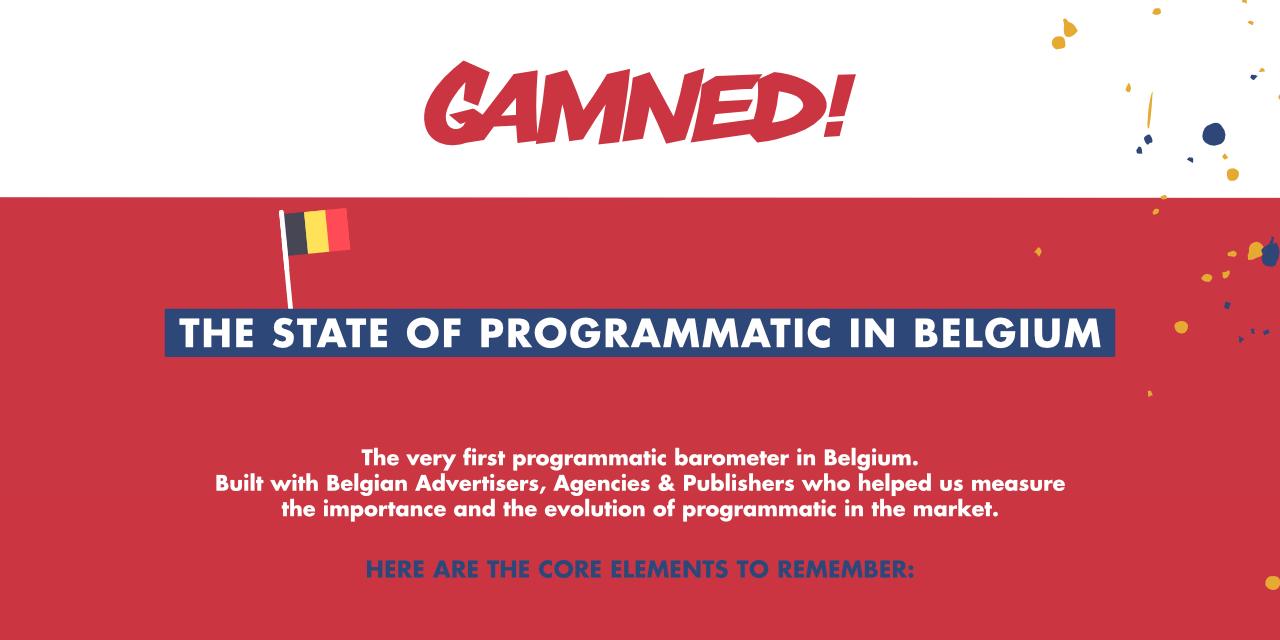 Gamned dévoile les chiffres clés du Programmatique Media en Belgique