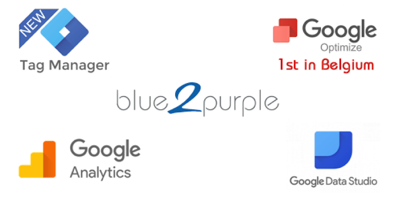 blue2purple gecertificeerd Google Optimize