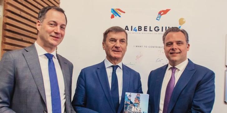 Alexander De Croo en Philippe De Backer stellen AI 4 Belgium Strategie voor
