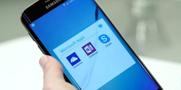Microsoft zal te vinden zijn op de Samsung-smartphones