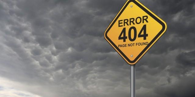«Error 404» - een nachtmerrie voor webshops. Hoe voorkomt u het?