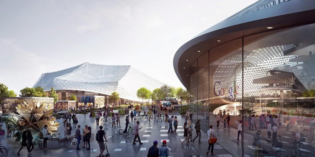 De toekomstige campus van Google lijkt op een decor uit een sciencefiction film