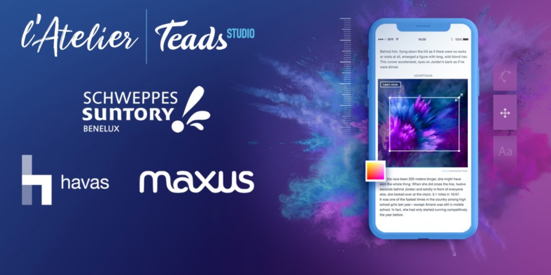 Photo of Schweppes Suntory Benelux, Maxus et Havas conçoivent une campagne publicitaire grâce au premier Atelier Teads Studio