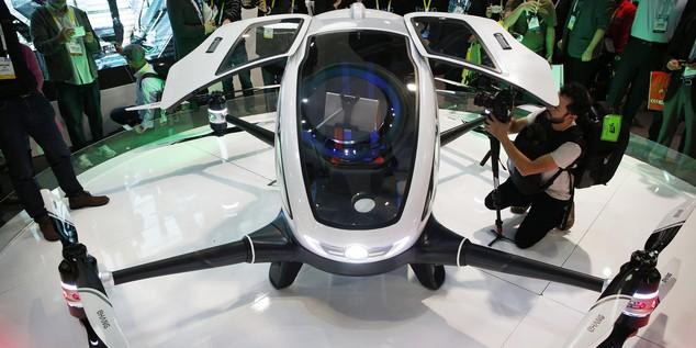 Ehang onthult de eerste drone voor passagiersvervoer