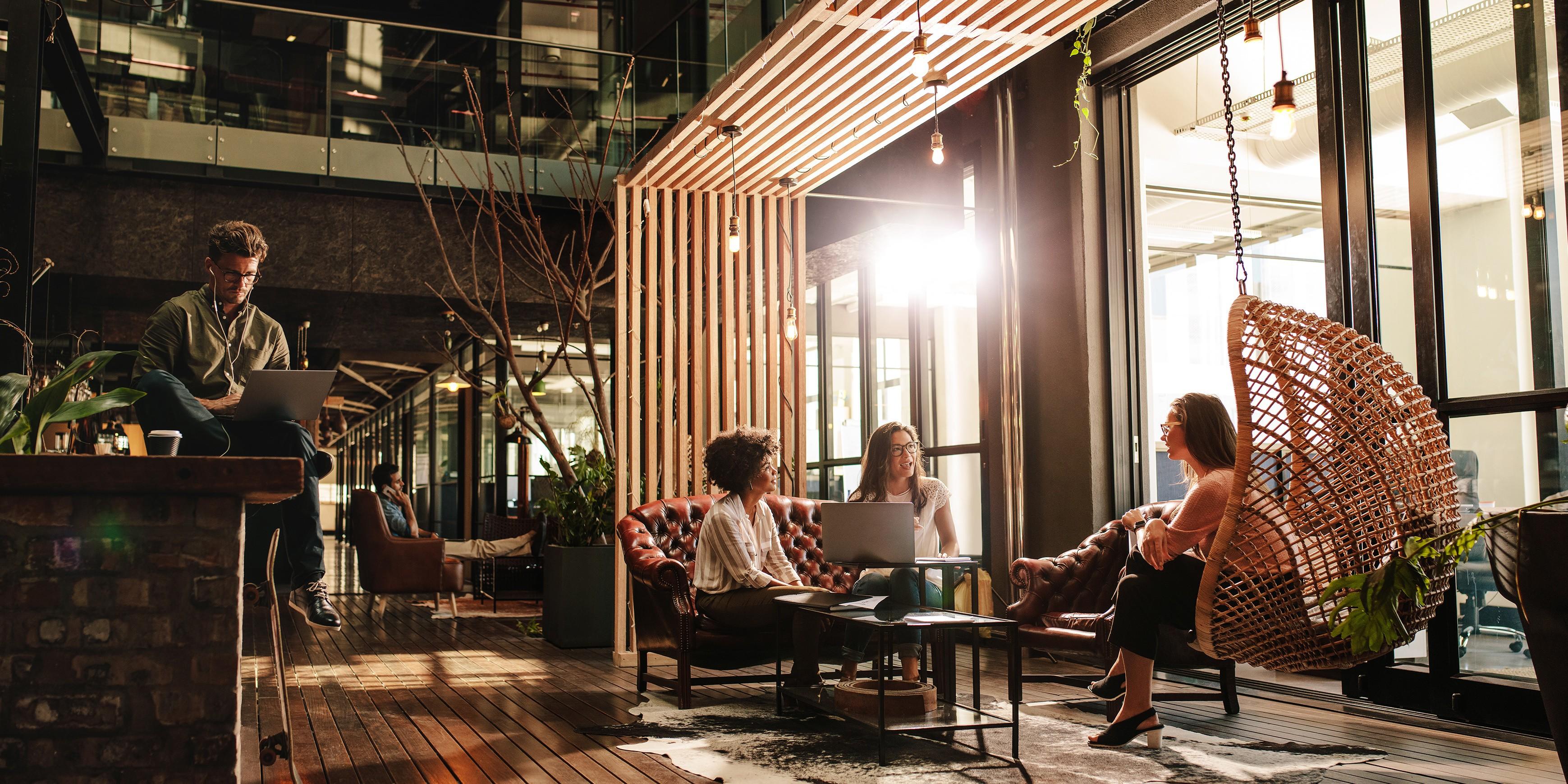 De boom van de coworking-ruimtes