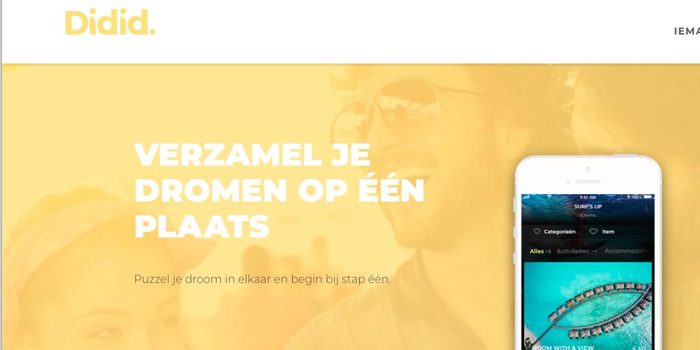 Une app belge vous aide à réaliser vos rêves !