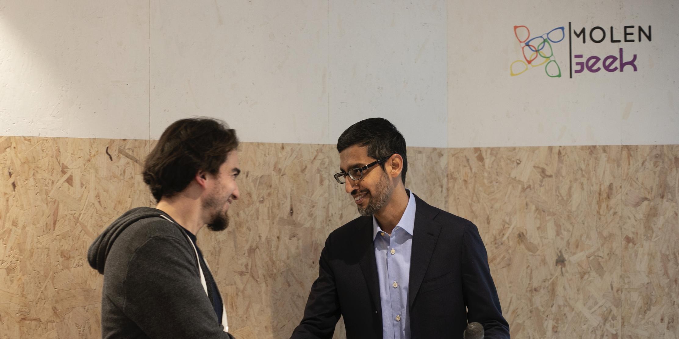 Le CEO de Google en visite à Bruxelles