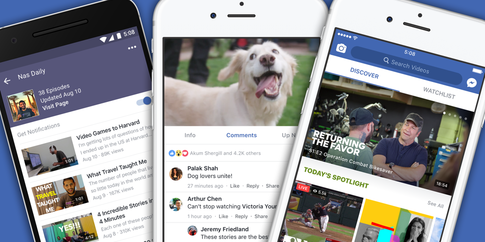Photo of Facebook veut concurrencer YouTube avec Watch