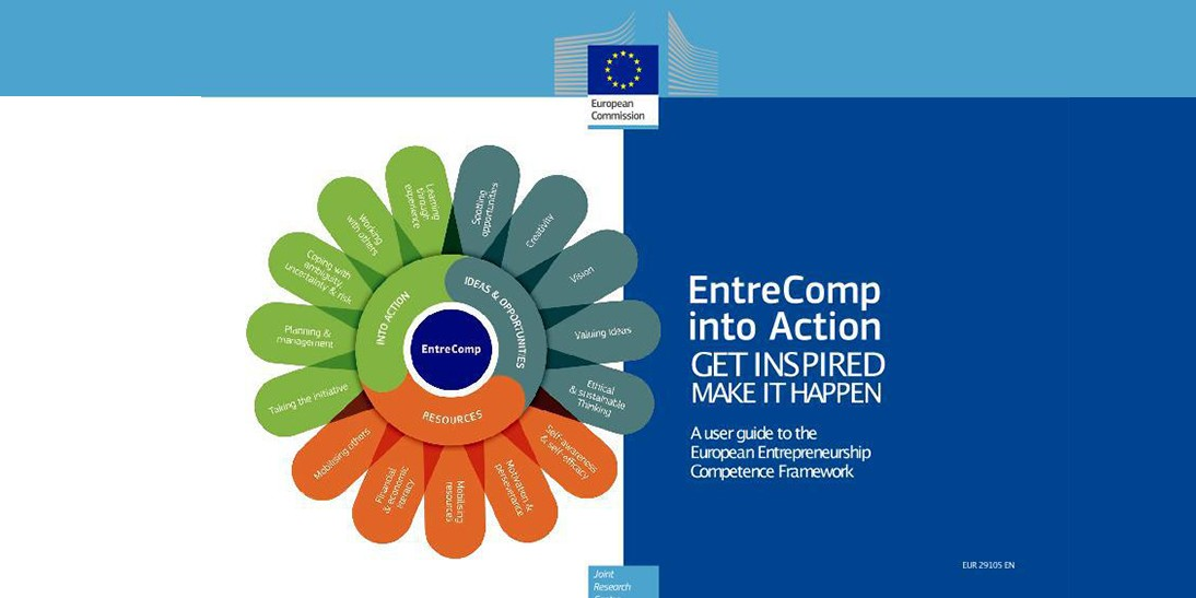EntreCompEdu featured in EntreComp into Action user guide