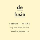 Volg de fusie van HEISME & Freddie live!