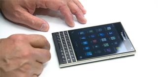 BlackBerry mise tout sur un smartphone carré